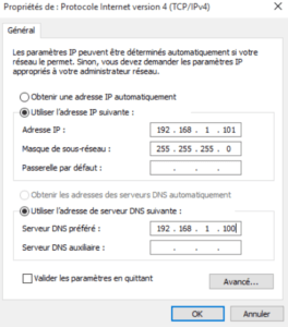 DNS préferé ajouté pour lintégration 264x300 - Comment configurer le DNS – Zones et enregistrements - sous Windows Server 2016