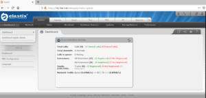 Interface web Elastix