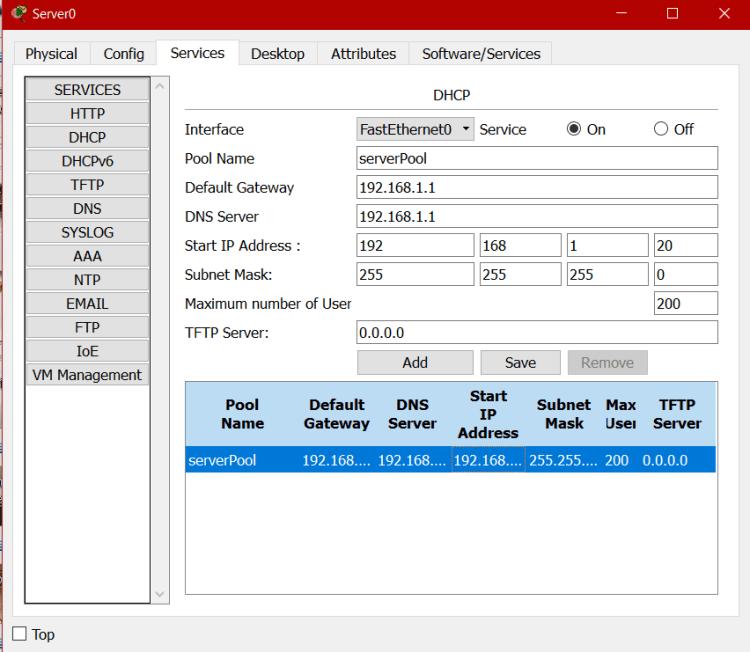configurer adresse IP sous cisco packet tracer