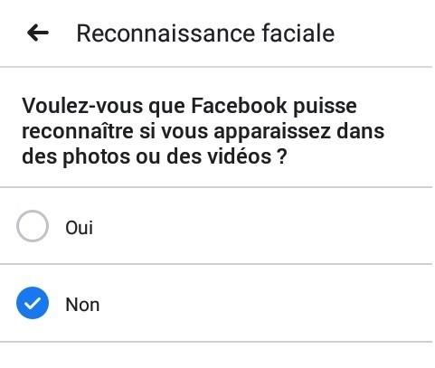 Désactivez votre réconnaissance faciale facebook