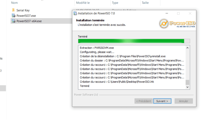 Installation PowerISO Windows 10