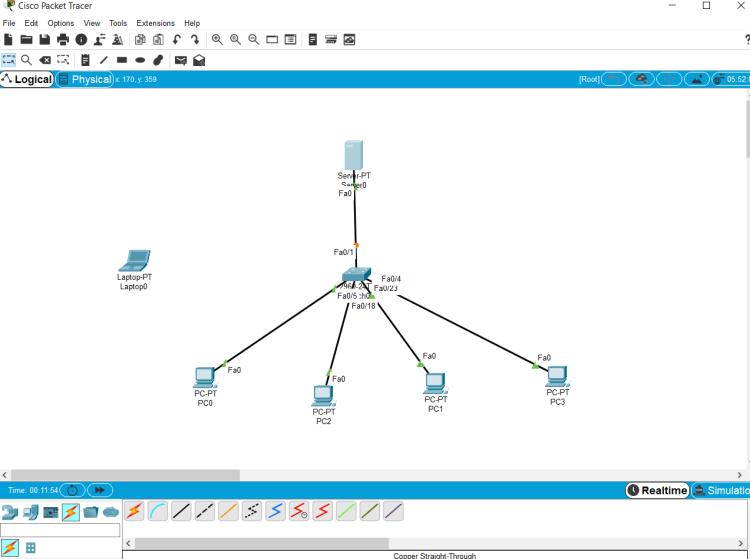 configurer DNS Cisco packet tracer