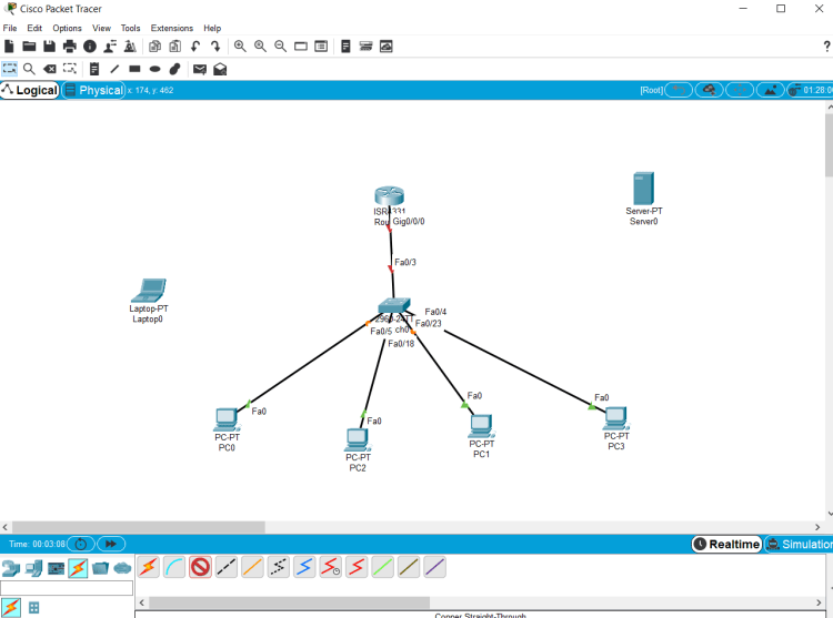 CONFIGURATION DHCP SUR CISCO PACKT TRACER