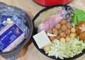 入秋吃鍋懶人晚餐,上半場好市多東北酸菜白肉鍋,下半場再加料變澎湃酸菜鮮蝦鍋