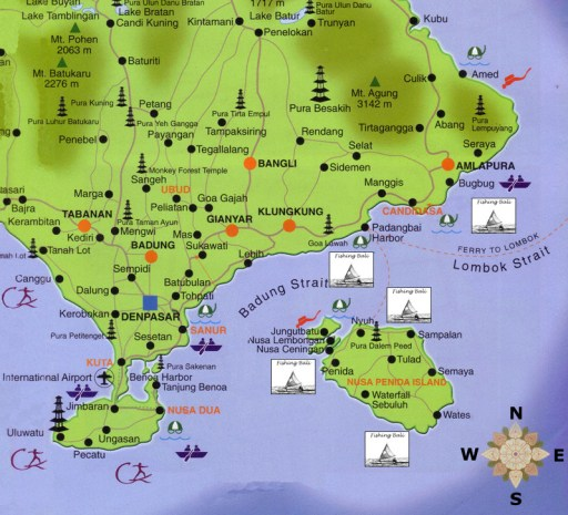 peta bali timur