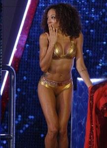 Jade Ewan Gold Bikini