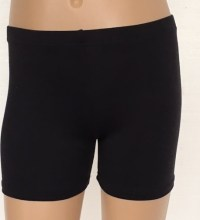 booty shorts black cotton