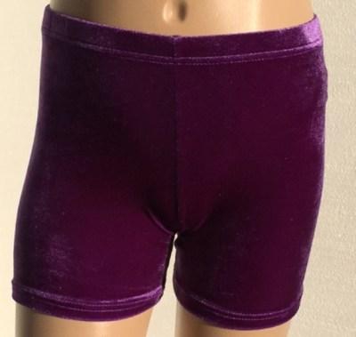 booty shorts purple velvet