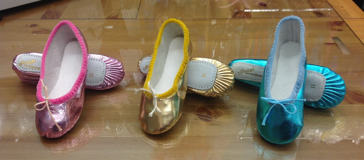 Gandolfi Ballet shoes made in our factory in England