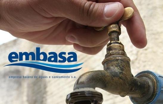 Embasa comunica falta de água em Gandu