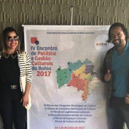Secretaria de Cultura de Gandu e conselho municipal participam do IV Encontro de Política e Gestão Culturais realizado em Feira.