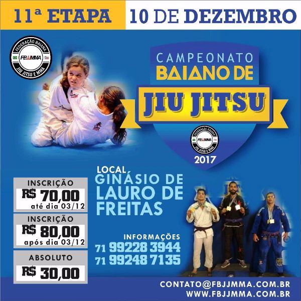 11ª Etapa do Campeonato Baiano de Jiu Jitsu - 10/12 em Lauro de Freitas