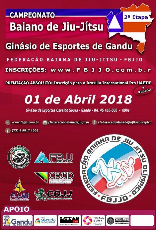 2ª etapa do Campeonato Baiano de Jiu Jitsu - 01/04 em Gandu