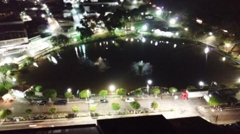 Prefeitura de Gandu dá um banho de luz no cartão postal da cidade