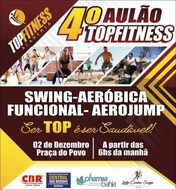 4%C2%BA-Aul%C3%A3o-TOPFITNESS Gandu: TOPFITNESS promove treinamento funcional de forma gratuita; veja como participar