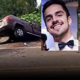 Tristeza: Jovem advogado morre após perder controle do carro e bater de frente em carreta