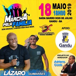 Irmão Lázaro confirma presença na 8ª Marcha pela Família em Gandu