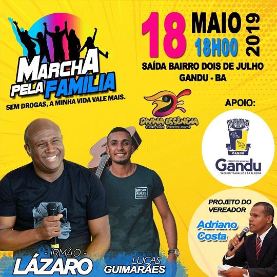 Marcha-pela-fam%C3%ADlia Irmão Lázaro confirma presença na 8ª Marcha pela Família em Gandu