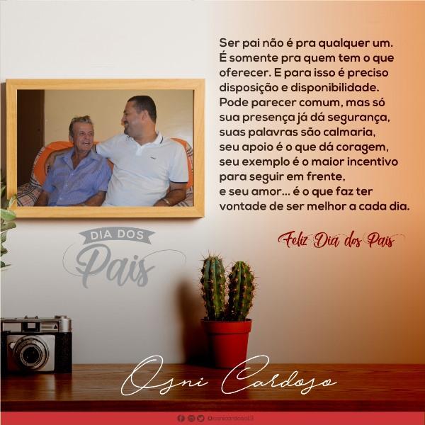 Dia-dos-Pais-Mensagem-do-Deputado-Estadual-Osni-Carrdoso Mensagem do Deputado Osni Cardoso em homenagem ao Dia dos Pais