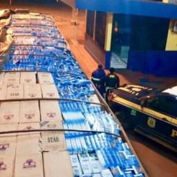 Operação apreende 1,5 milhão de carteiras de cigarros contrabandeadas