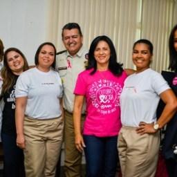 Combate ao Câncer de Mama é tema eventos da Polícia Militar