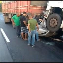 'Um milagre', revela irmão de juiz que teve seu carro esmagado por carretas