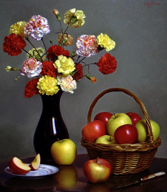 © Stephen Gjertson, Carnations and Apples