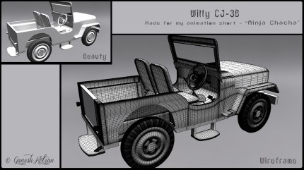 Back - Willy CJ-3B - Made for Ninja Chacha Animation Short