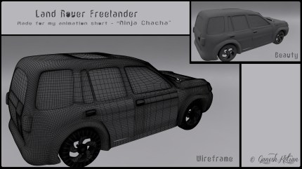 Back - The Land Rover Freelander - Made for Ninja Chacha Animation Short