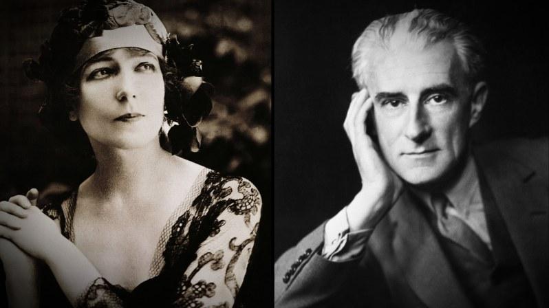 Ida Rubinstein, la commanditaire du Boléro, et Maurice Ravel