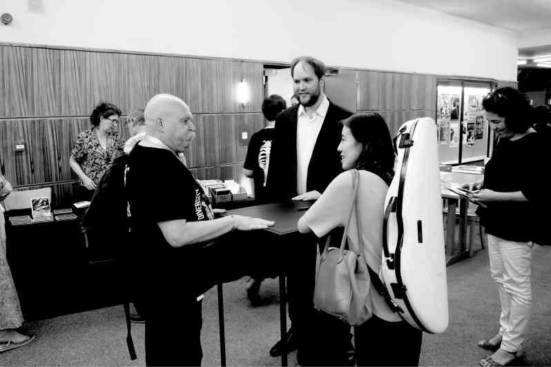 Signature après le concert de Mi-Sa Yang et Jonas Vitaud à la Salle Flagey le 28 juin 2019