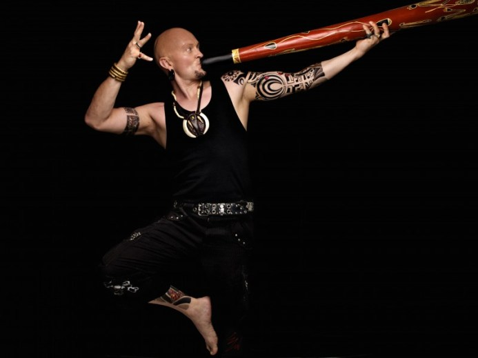 Ganga Giri playing Didgeridoo