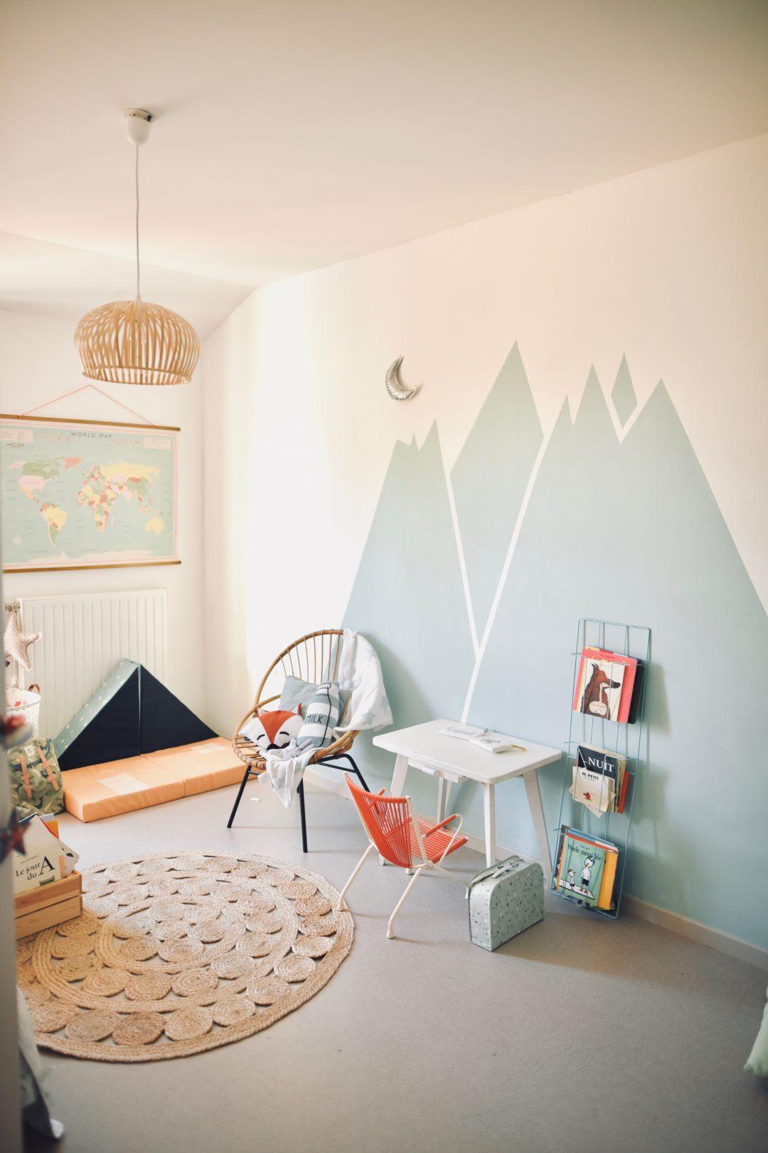 chambre enfant montagnes