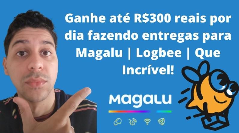 Ganhe até R$300 reais por dia fazendo entregas para Magalu | Logbee | Que Incrível!