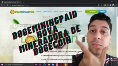DogeMiningPaid Nova mineradora de Dogecoin | Que Incrível!
