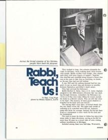 Rabbi, Teach Us!
