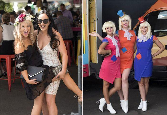 オーストラリアの競馬場に来ている女性達。 なぜこんなセクシー?