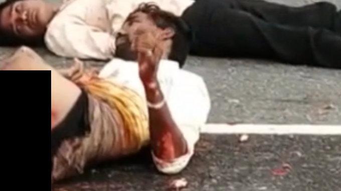 【閲覧注意】 致命傷のまま動いている男性。