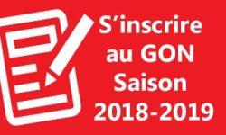 s' inscrire au GON 2018-2019