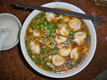 Dumplings in Hot and Sour soup