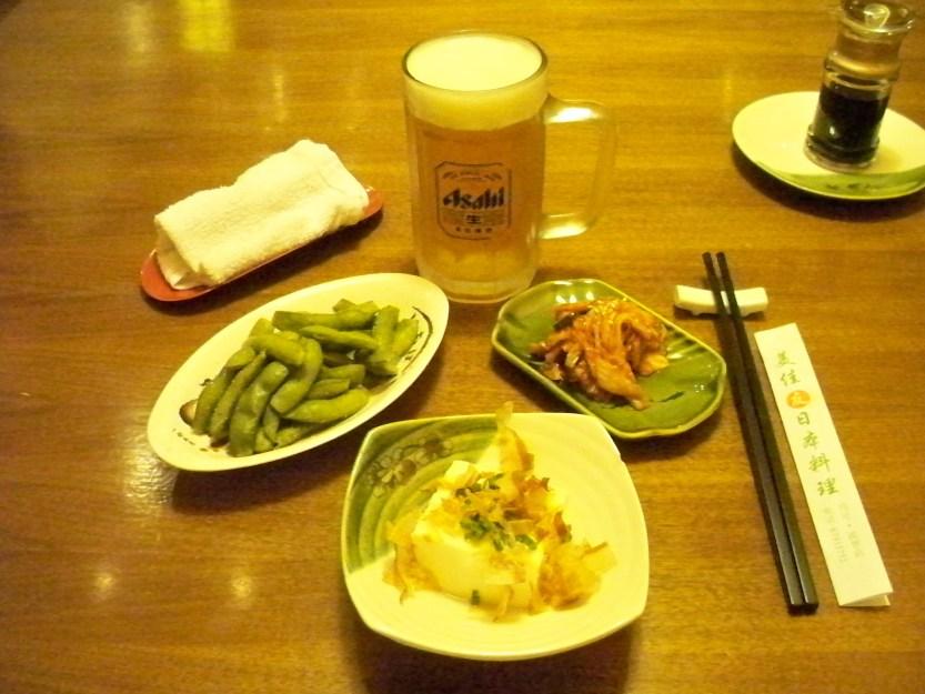 Edamame, Tofu and Kimichi