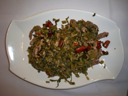 Greens with pork