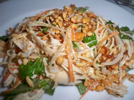 Banana Flower and Chicken Salad
