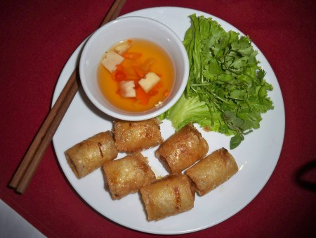 Egg and Crab Spring Roll