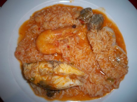Arroz do Mar on the plate