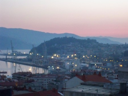 Dawn on the port