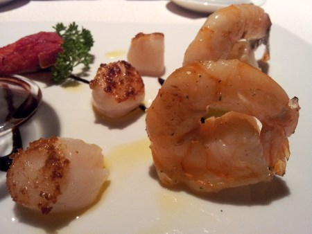 Scallops and prawns