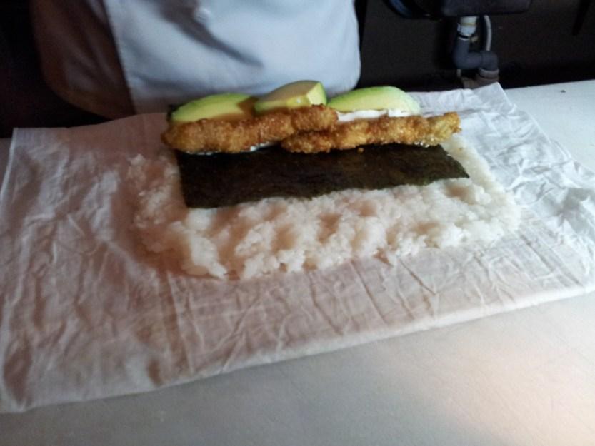 Fried prawns added
