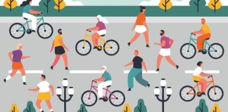 Ilustrasi Car Free Day (Foto: Net/Freepik)