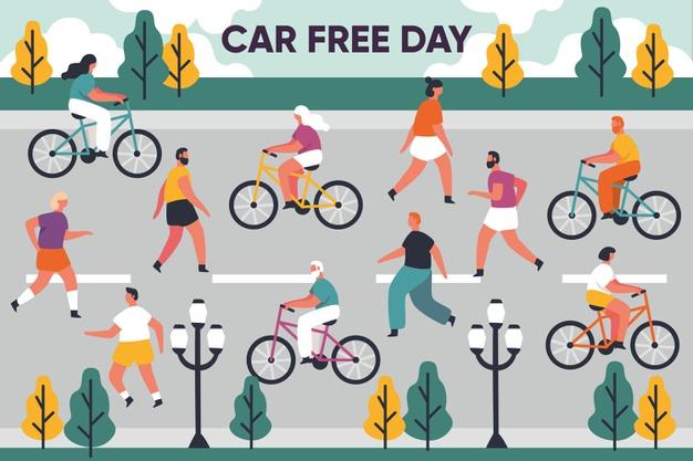 Ilustrasi Car Free Day (Foto: Net/Freepik)